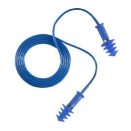 Bouchons d oreilles détectables réutilisables DUP avec cordon élastomère bleu SNR 30 photo du produit