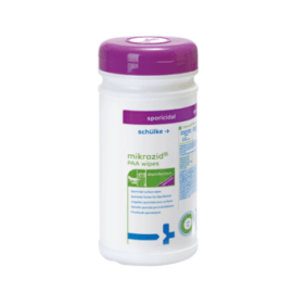 Schülke Mikrozid PAA wipes lingettes désinfectantes boite de 50 photo du produit