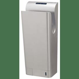Sèche-mains automatique vertical moteur brushless antibactérien gris métallisé photo du produit