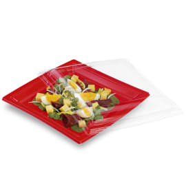 Couvercle pour assiette carrée cristal photo du produit