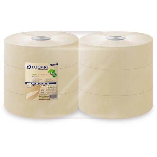Papier toilette rouleau géant Havane 2 plis 350m prédécoupé 8,5 x 24 cm certifié Ecolabel photo du produit
