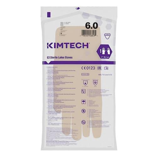 Gant de protection chimique latex stérile Kimtech Pure G3 30cm taille 6 photo du produit Side View L