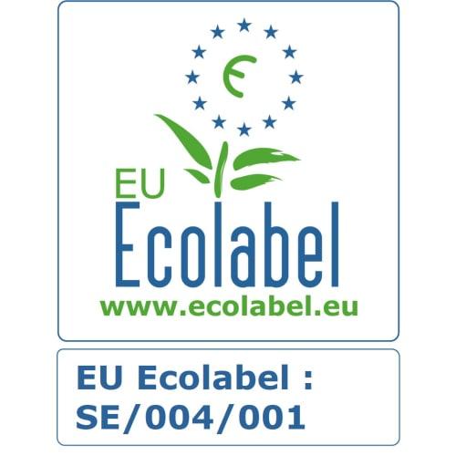Papier toilette rouleau mini géant blanc 2 plis 207m prédécoupé 13,4 x 18 cm certifié Ecolabel photo du produit Back View L