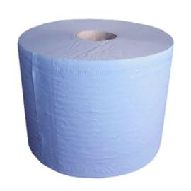 Bobine d essuyage bleue 2 plis 1000 formats 21,5 x 35 cm certifié Ecolabel photo du produit