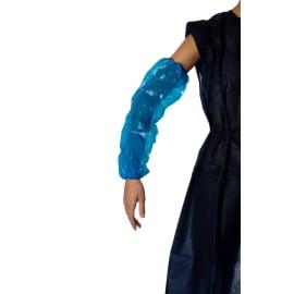 Manchette PE PROP 25µm bleu 50 x 20 cm taille L photo du produit