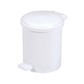 Poubelle plastique à pédale 3L blanc photo du produit