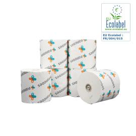 Essuie-mains rouleau blanc 2 plis 205m certifié Ecolabel photo du produit