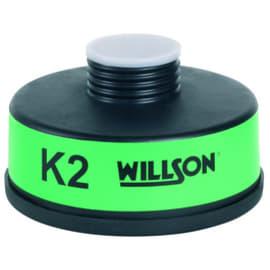 Cartouche anti-gaz K2 pour masque anti-gaz à système cartouche Honeywell standard RD40 photo du produit