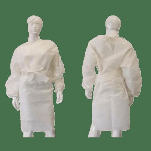 Blouse de soins PLP 50g/m² à liens élastiques poignets blanc 100cm photo du produit