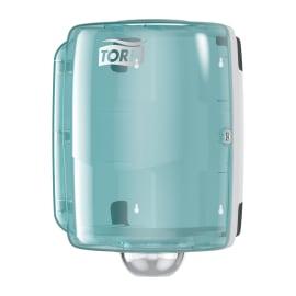 Distributeur d essuyage dévidage central W2 turquoise/blanc photo du produit