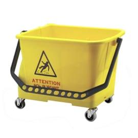 Seau bi-bac PLP 2 x 8L jaune avec roues photo du produit
