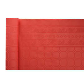 Nappe de table papier damassé 1,20 x 50 m rouge photo du produit