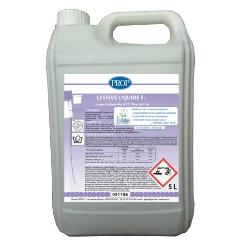 PROP lessive liquide E+ certifiée Ecolabel bidon de 5L photo du produit