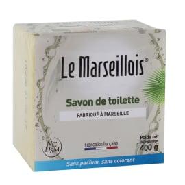 Le Marseillois savon de toilette bloc de 400g photo du produit
