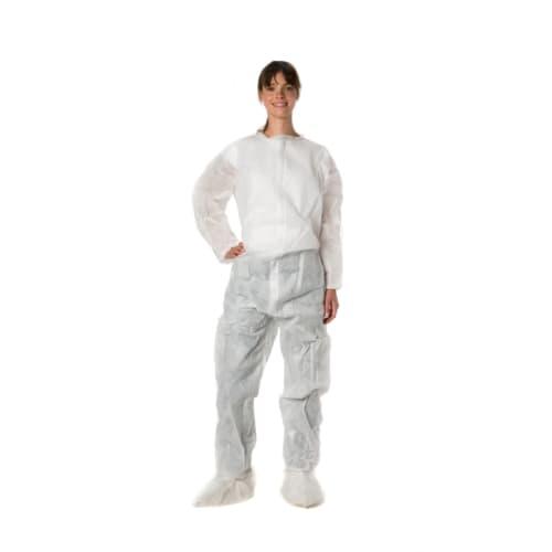 Combinaison de travail Poligard PLP 50g/m² col Mao poche arrière élastiques poignets taille chevilles blanc taille L photo du produit