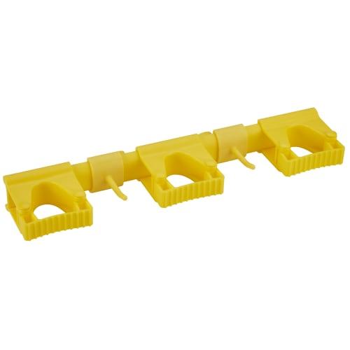 Support mural 3 clips alimentaire PLP 42cm jaune photo du produit