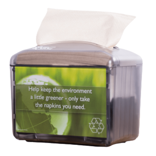 Distributeur de serviettes enchevêtrées 17 x 20 transparent noir photo du produit