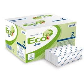 Essuie-mains plié blanc 2 plis 24 x 22,5 cm certifié Ecolabel photo du produit