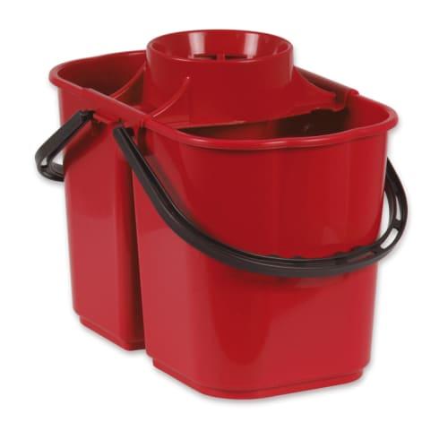 Seau bi-bac PLP 8L + 6L avec essoreur rouge photo du produit