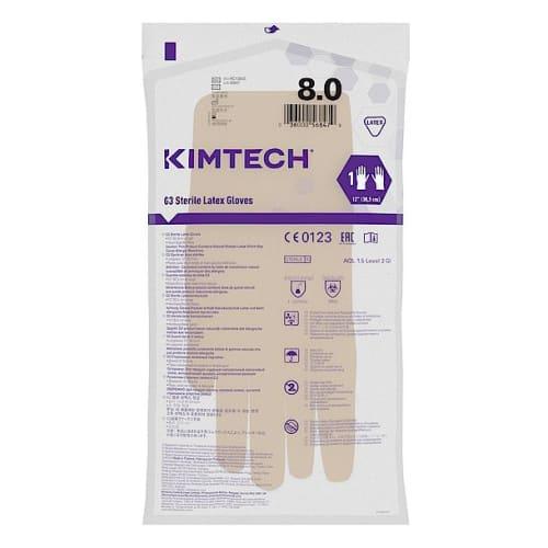 Gant de protection chimique latex stérile Kimtech Pure G3 30cm taille 8 photo du produit Side View L