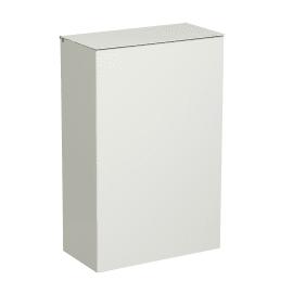 Corbeille murale métal 10L blanc photo du produit