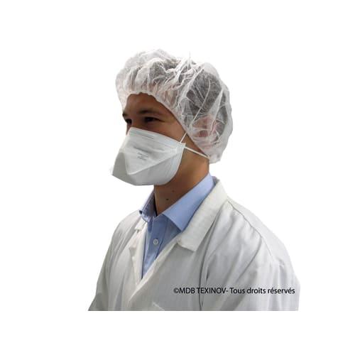 Masque de protection respiratoire FFP2 NR blanc EN149 :2009 photo du produit Back View L