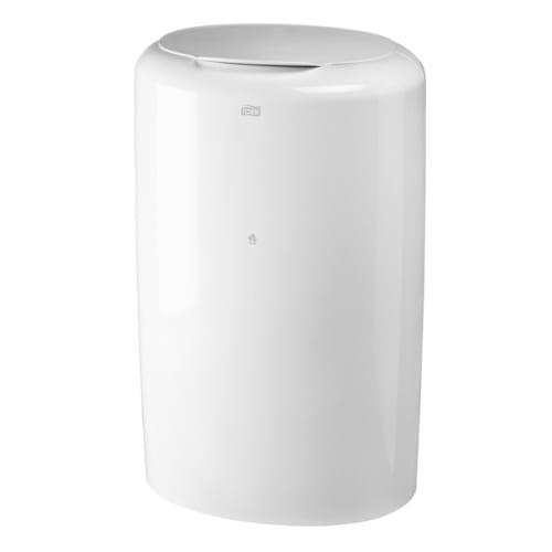 Poubelle plastique 50L blanc photo du produit