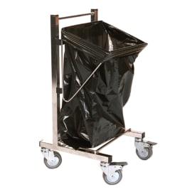 Chariot support petits sacs inox photo du produit