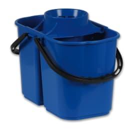 Seau bi-bac PLP 8L + 6L avec essoreur bleu photo du produit