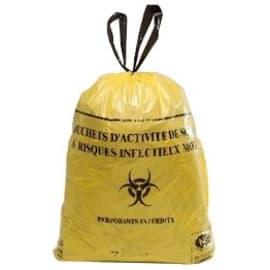 Sac plastique DASRI 110L jaune 42µm NF X photo du produit