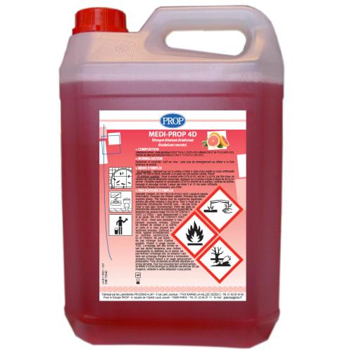 PROP Medi-Prop 4D détergent détartrant désinfectant désodorisant bidon de 5L photo du produit