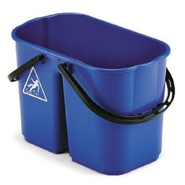 Seau bi-bac PLP 8L + 6L bleu photo du produit