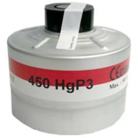 Cartouche anti-gaz aluminium HgP3 pour masque anti-gaz à système cartouche Honeywell standard RD40 photo du produit