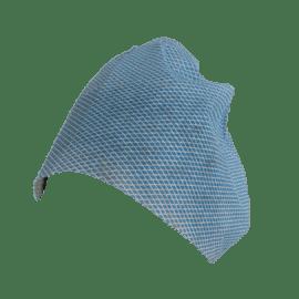Coiffe à nouer non-tissé viscose/polyester aéré 35g/m² bleu photo du produit