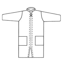 Blouse de laboratoire Tyvek zip col Mao 2 poches blanc taille M photo du produit