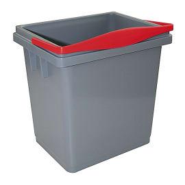 Seau PLP 4L gris anse rouge photo du produit