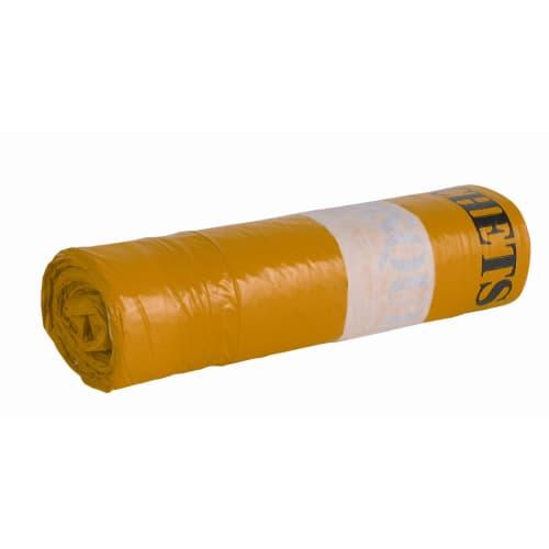 Sac plastique DASRI 50L jaune 24µm NF X photo du produit Back View L