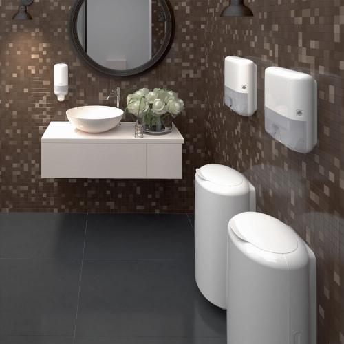Distributeur d essuie-mains pliés blanc H2 mini photo du produit Side View L