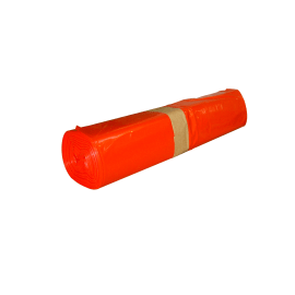 Sac plastique PE BD 110L rouge 40µm sans lien photo du produit