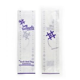 Sac à sandwich papier kraft 100 x 350 mm blanc avec impression recto/verso photo du produit