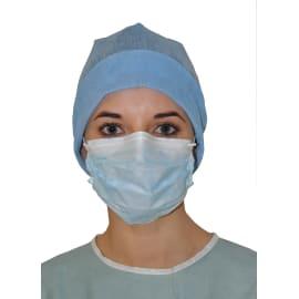 Masque médical Op-Air Tech type I bleu à élastiques photo du produit