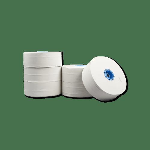 Papier toilette rouleau géant blanc 2 plis 350m avec embout continu photo du produit