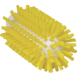 Brosse cylindrique fibres dures alimentaire PLP Ø6,3cm jaune photo du produit