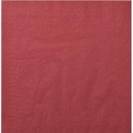 Serviette papier 2 plis 20 x 20 cm bordeaux photo du produit