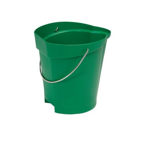 Seau gradué alimentaire PLP 12L vert photo du produit