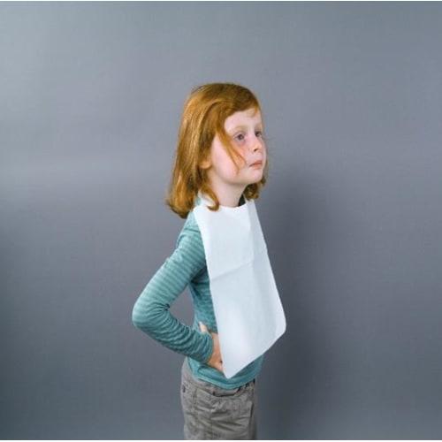 Bavoir enfant plastifié 45g/m² à liens photo du produit Back View L