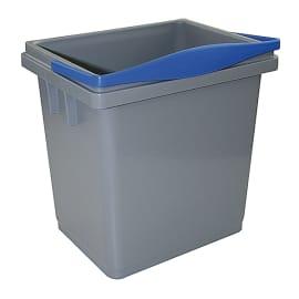 Seau PLP 4L gris anse bleue photo du produit