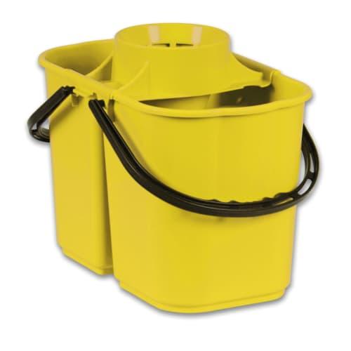 Seau bi-bac PLP 8L + 6L avec essoreur jaune photo du produit