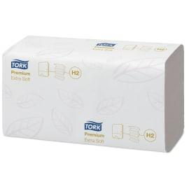 Essuie-mains plié blanc TAD 2 plis 21 x 34 cm certifié Ecolabel photo du produit
