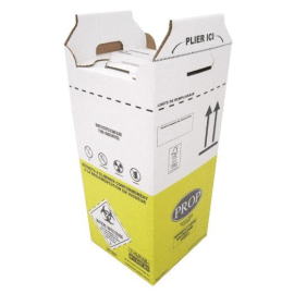 Carton hospitalier DASRI 25L haut lien coulissant NF X photo du produit